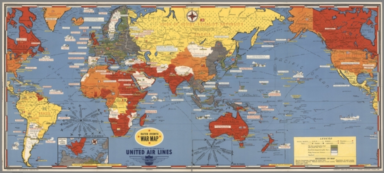 Dated Events War Map. 1945. 14th Edition.