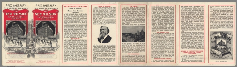 Covers: Salt Lake City map and route of the Mormon Pioneers