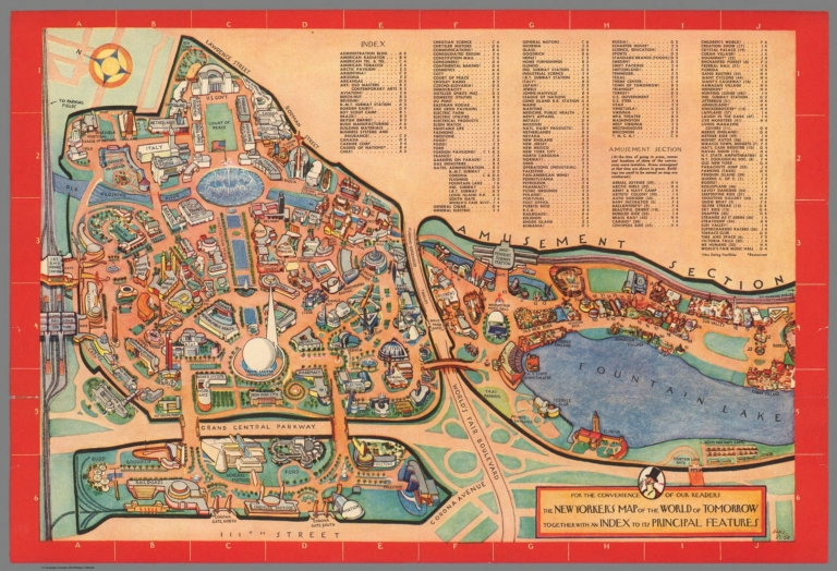 New Yorkers Map Of The World.The New Yorker S Map Of The World Of Tomorrow New York 1939 World S