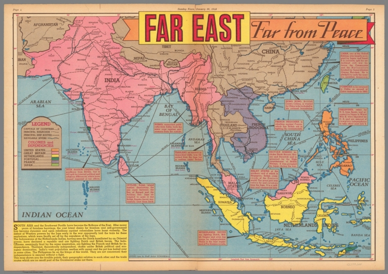 Far East Far from Peace. January 20, 1946. - David Rumsey Historical ...