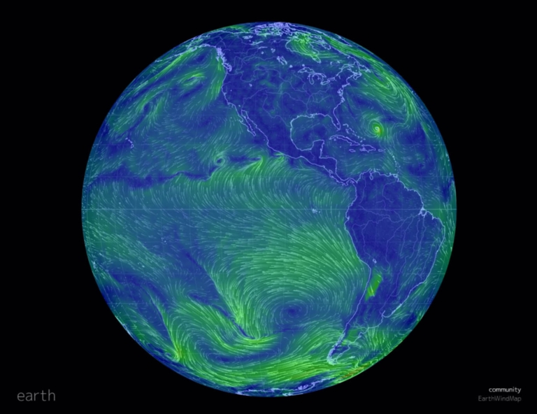 earth - a visualization of global weather conditions.