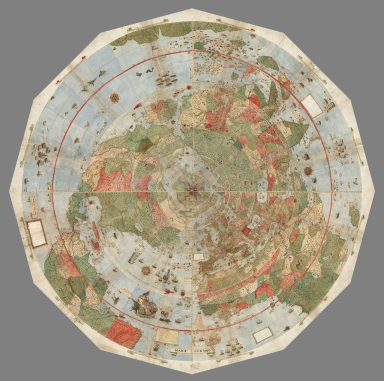 1587 World Map.David Rumsey Historical Map Collection Largest Early World Map