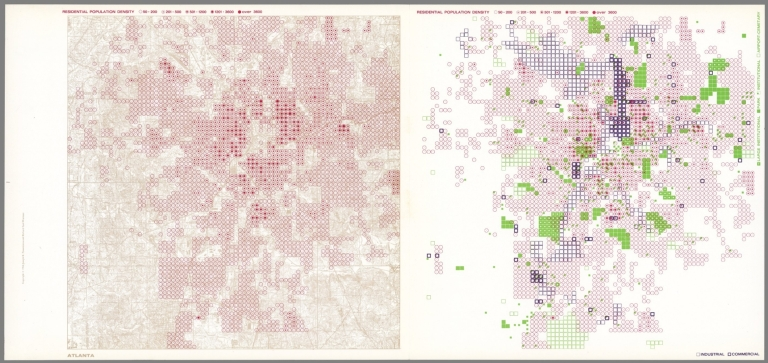 Atlanta. Residential Population Density; Industrial, Commercial; Large Institutional, Park, Institutional, Airport, Cemetery.