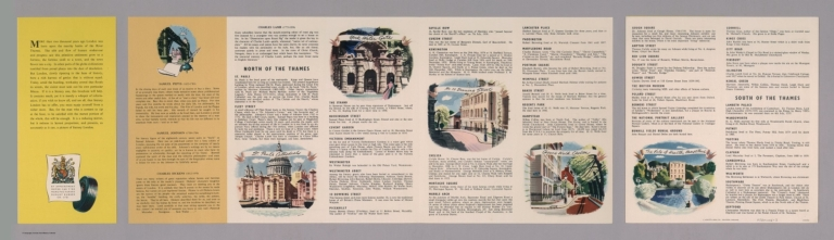 Text Page: A Dunlop map of central London and its literary associations, LE 50/34