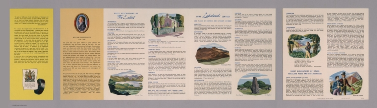 Text Page: A Dunlop map of Lake District. LE 50/35
