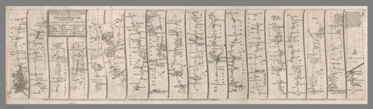 Composite map: 1-3. The road from London to Aberistwith
