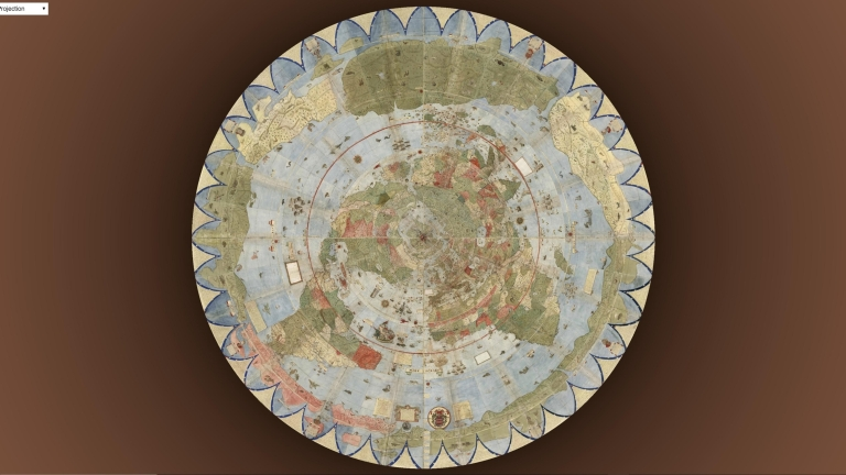 Urbano Monte World Map Reprojections.