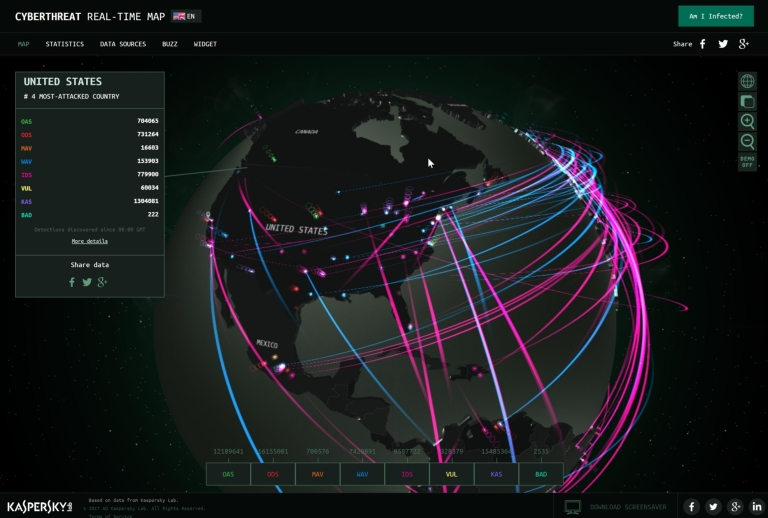 CYBERTHREAT REAL-TIME MAP
