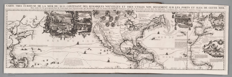Tome VI. No. 30. Page 117. Carte tres curieuse de la Mer du Sud. North section