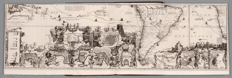 Tome VI. No. 30. Page 117. Carte tres curieuse de la Mer du Sud. South section