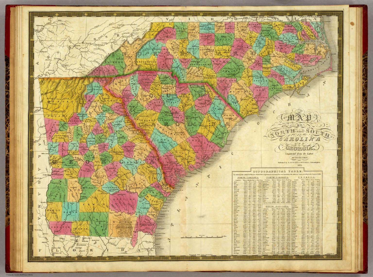 Of North And South Carolina And Georgia Mitchell Samuel - Map of north ga