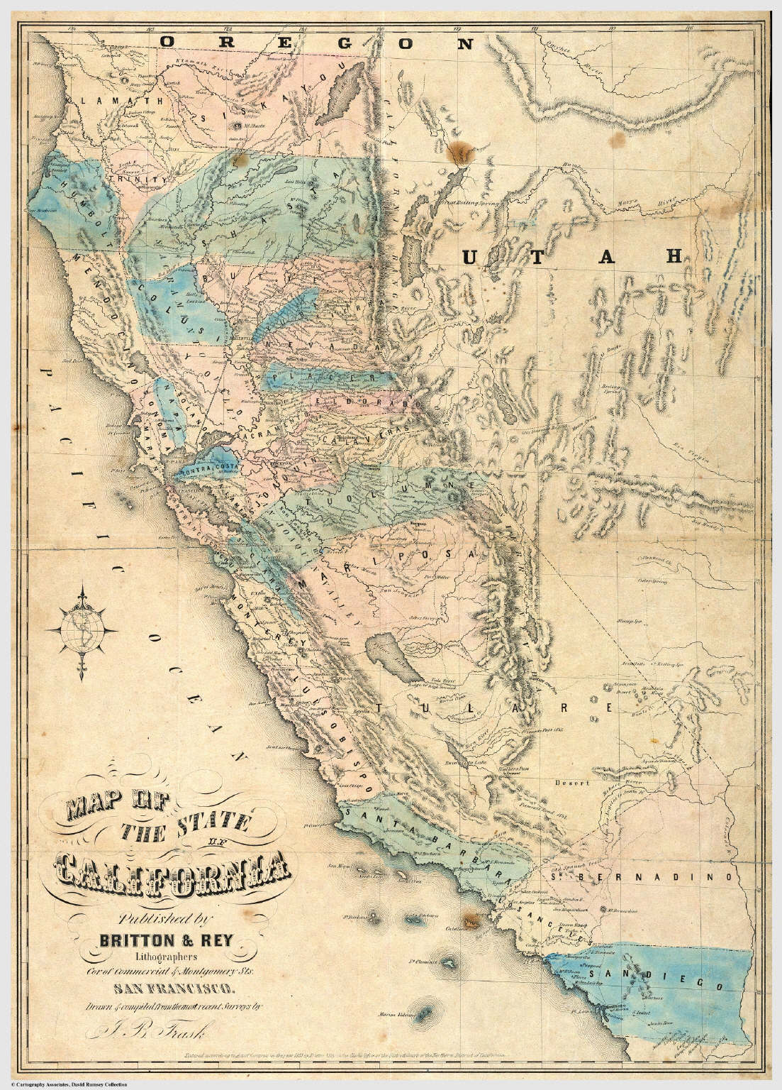 Map Of The State Of California David Rumsey Historical Map - Map of the state of california