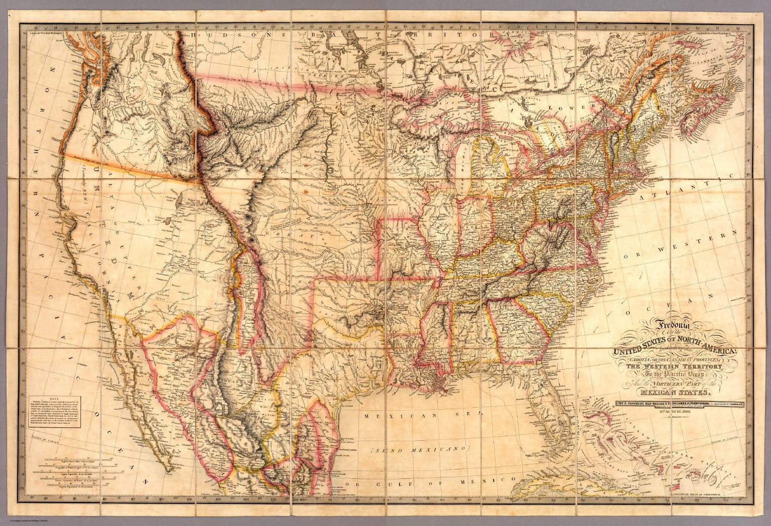 Fredonia Or The United States Of North America David Rumsey - Is united states north america