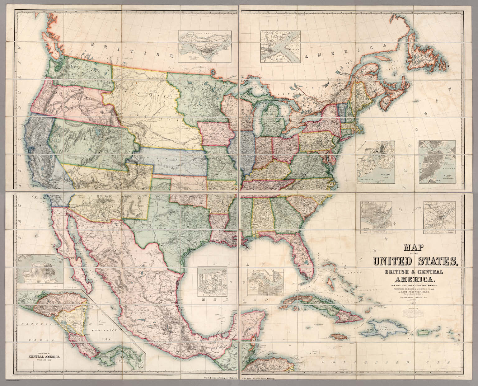 Map Of The United States British Central America David - Central united states map