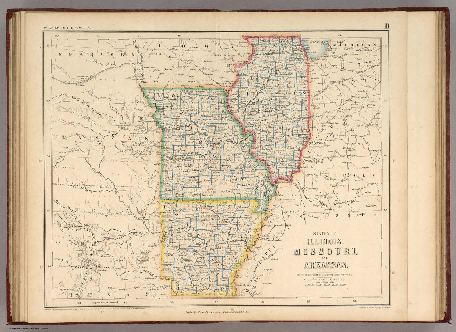 States Of Illinois Missouri And Arkansas Rogers Henry Darwin