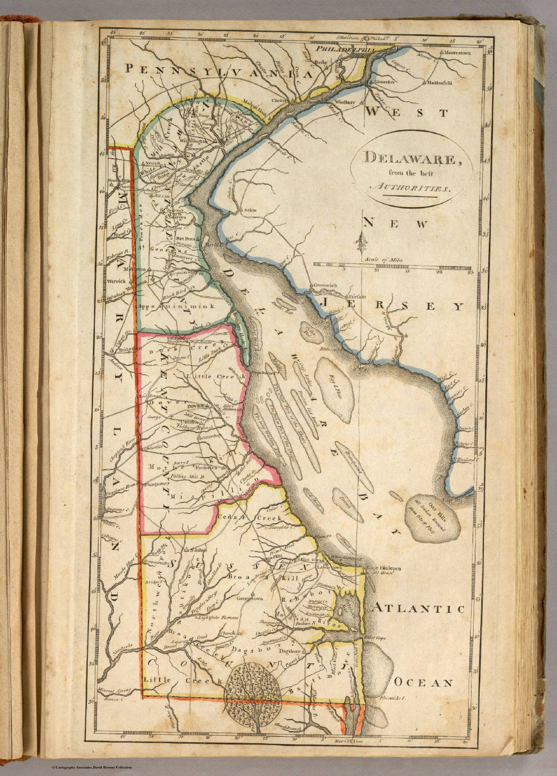 Delaware David Rumsey Historical Map Collection - Map of delaware