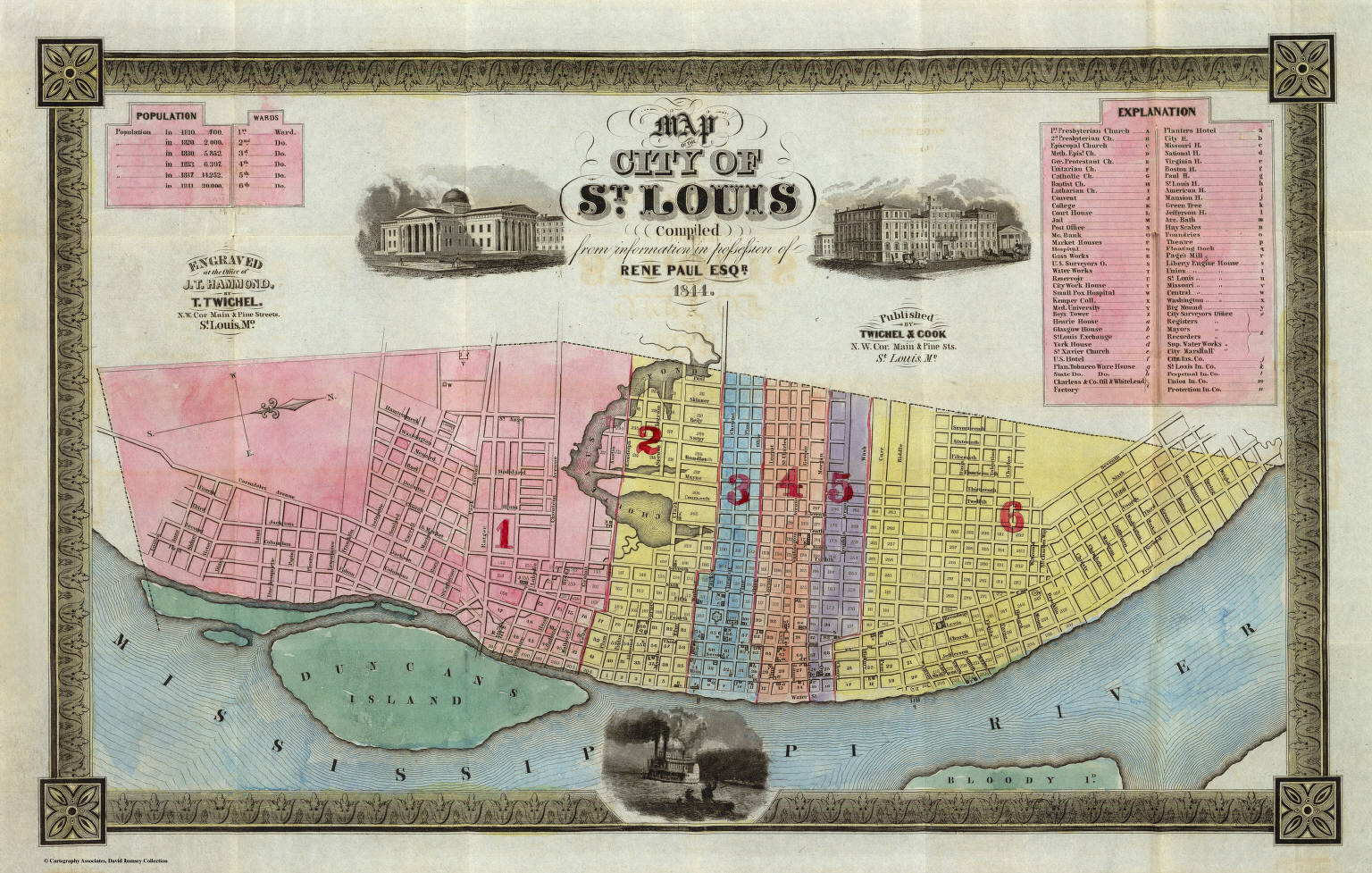 Map Of The City Of St. Louis. / Paul, Rene / 1844