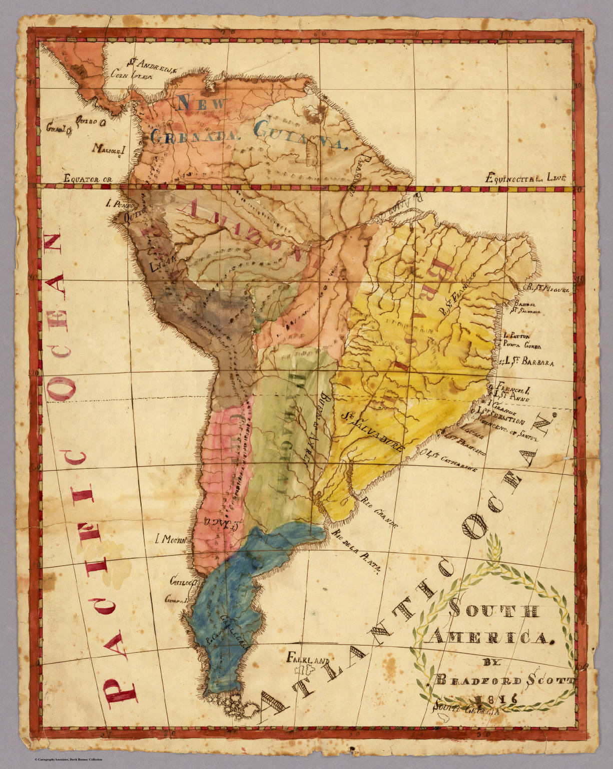 south america david rumsey historical map collection