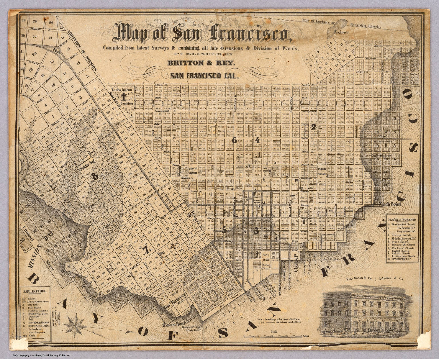 Map of San Francisco. / Britton & Rey / 1852
