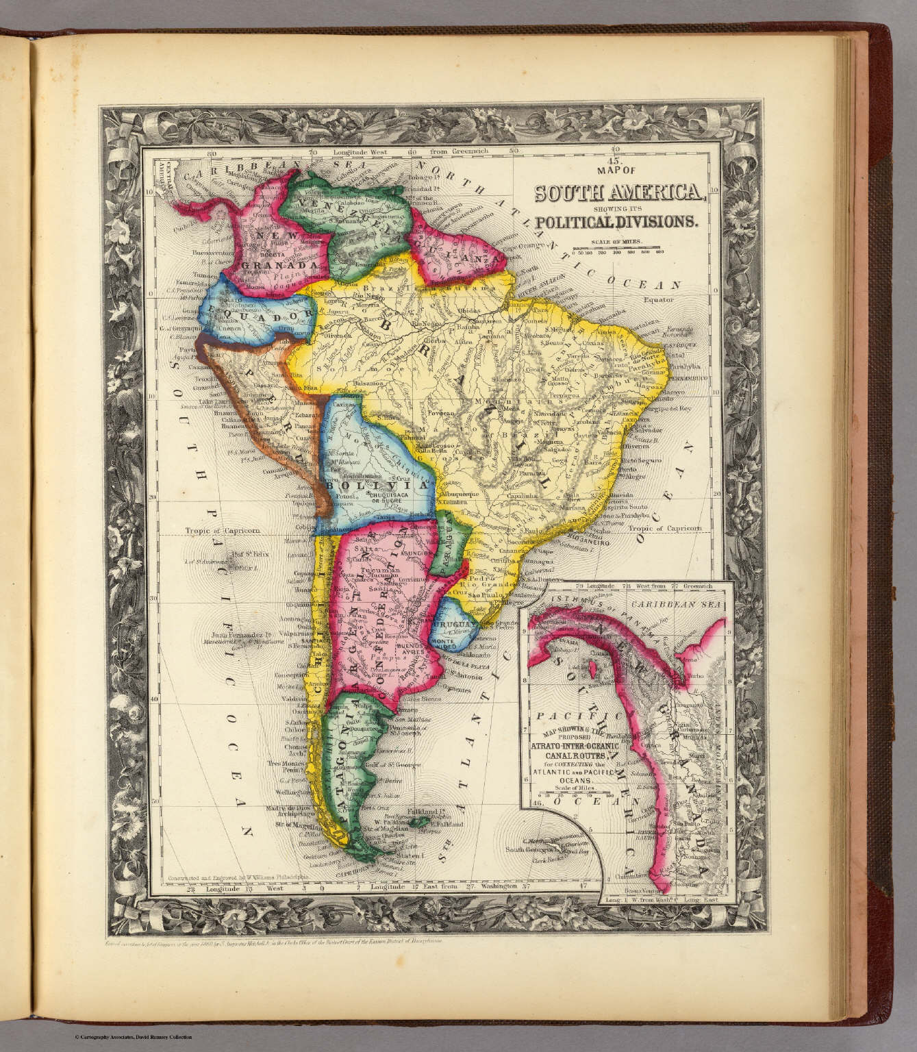 map of south america david rumsey historical map collection
