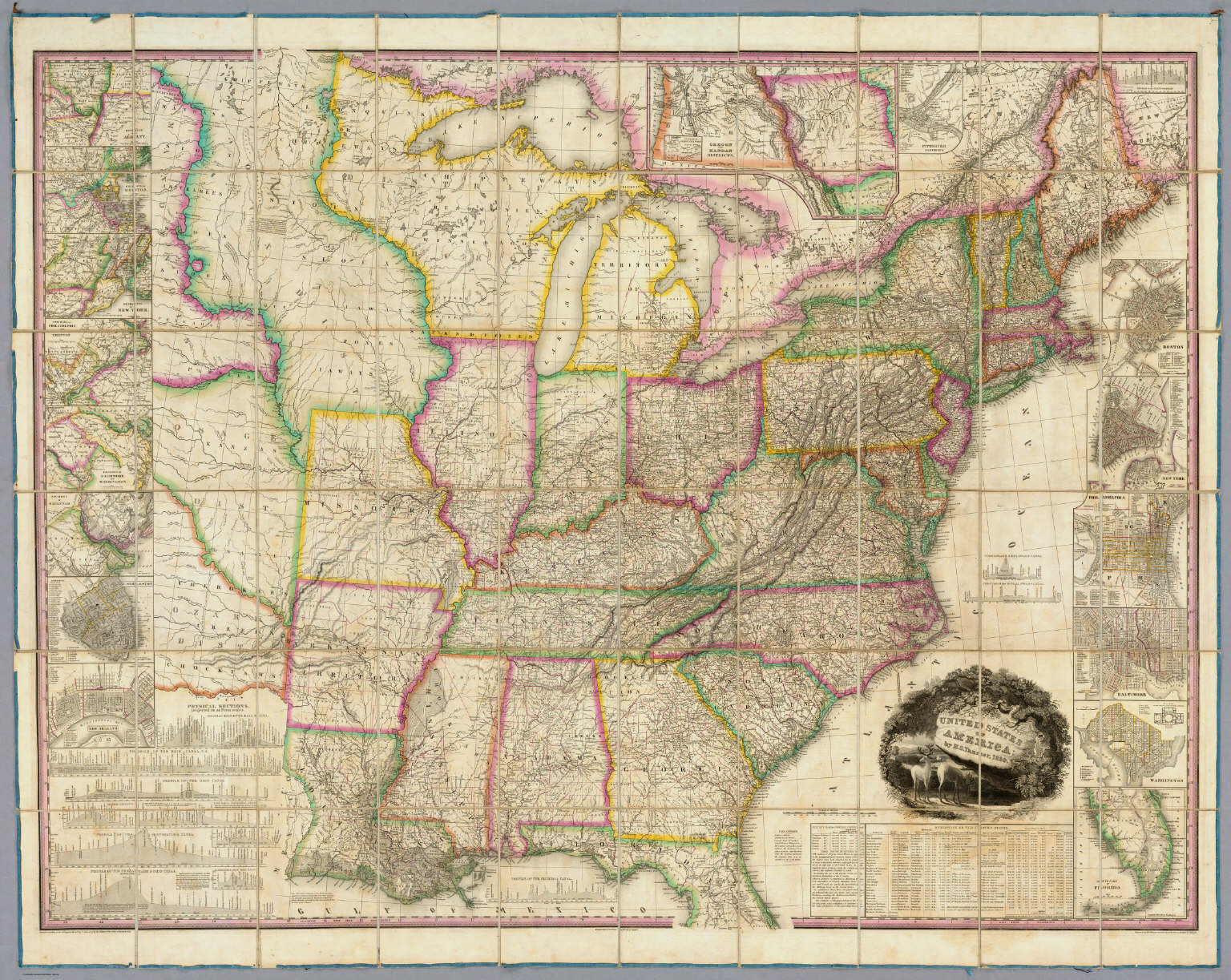 United States Of America David Rumsey Historical Map Collection - 1829 us map