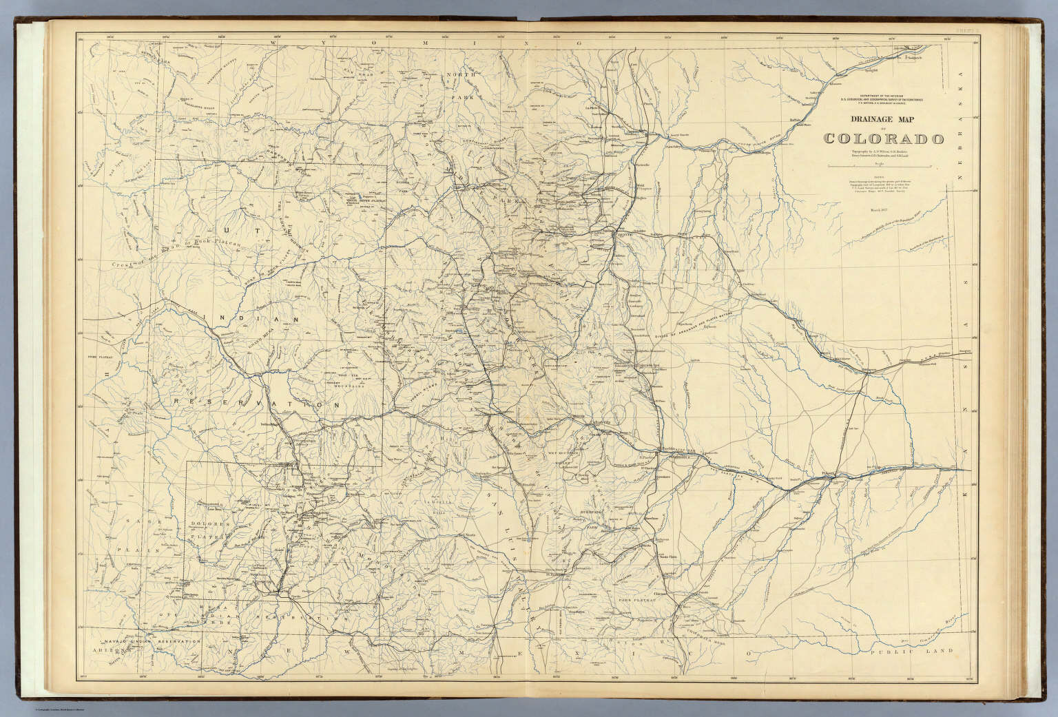 Drainage Map Of Colorado David Rumsey Historical Map Collection - Map of colorado
