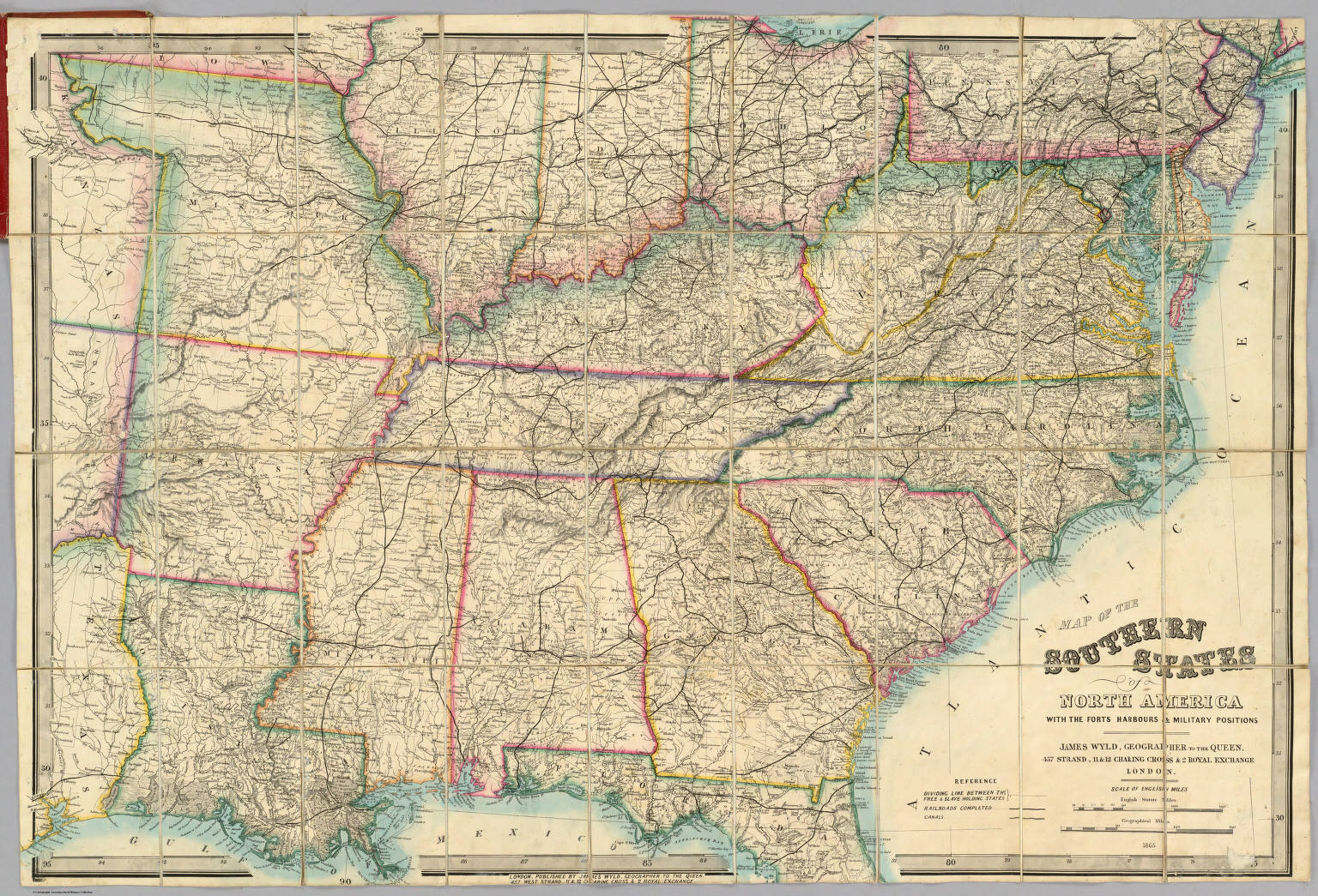 Map Of The Southern States Of North America David Rumsey - Map of america with states