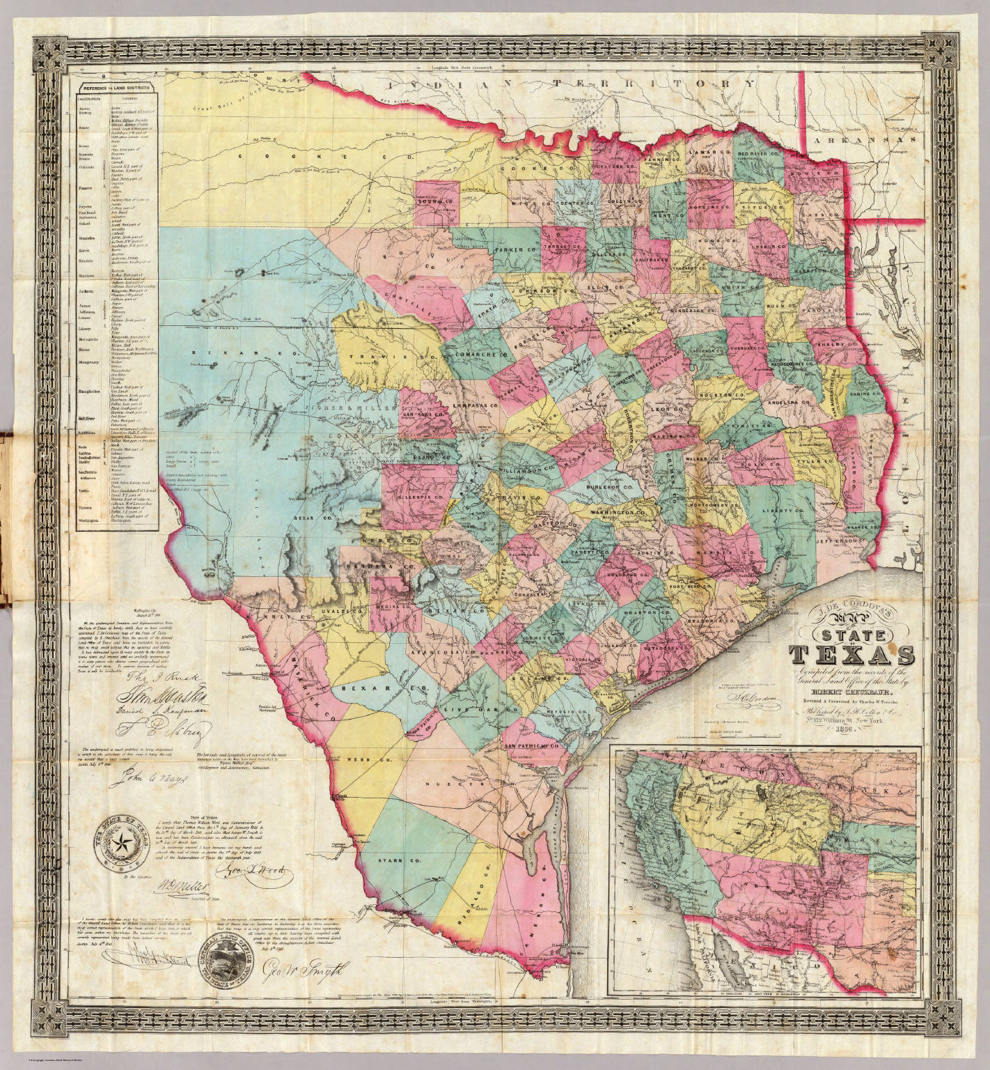 J. De Cordova's Map Of The State Of Texas. - David Rumsey ... Map J on