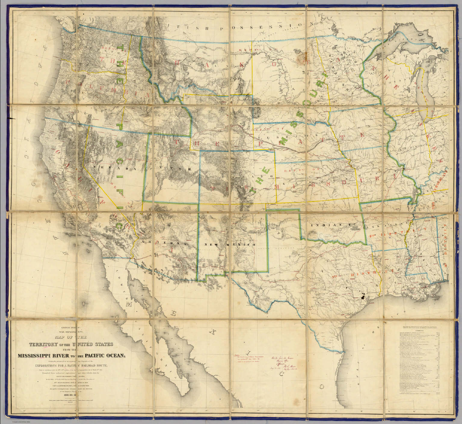 Map Of The Territory Of The United States From The Mississippi