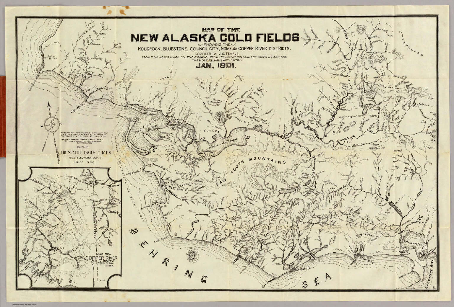 Map Of The New Alaska Gold Fields. / Temple, J.G. / 1901 Gold Map on london's map, around the world map, quartz crystal map, true map, crazy world map, iron mining map, classic map, black map, tin deposits map, original map, metallic map, diamond map, old west map, gilgal map, iron deposits map, natural earth map, blue china map, blue ocean map, tin ore map, china bubble map,