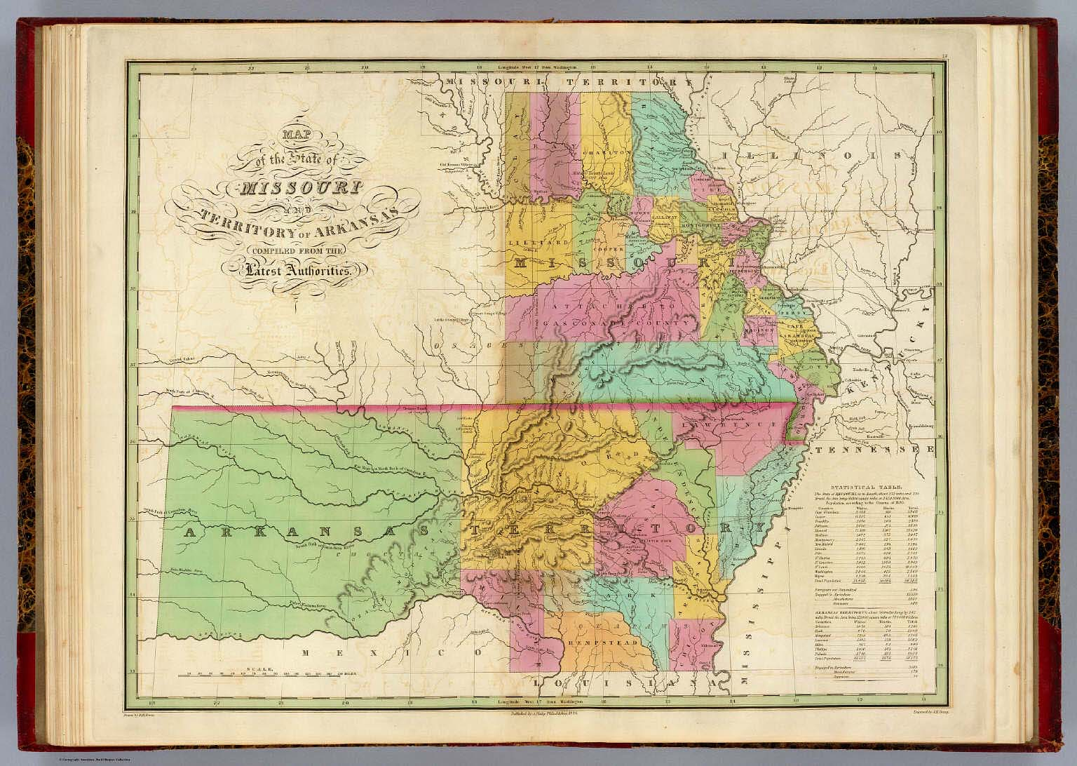 Of The State Of Missouri And Territory Of Arkansas Finley - State of missouri map