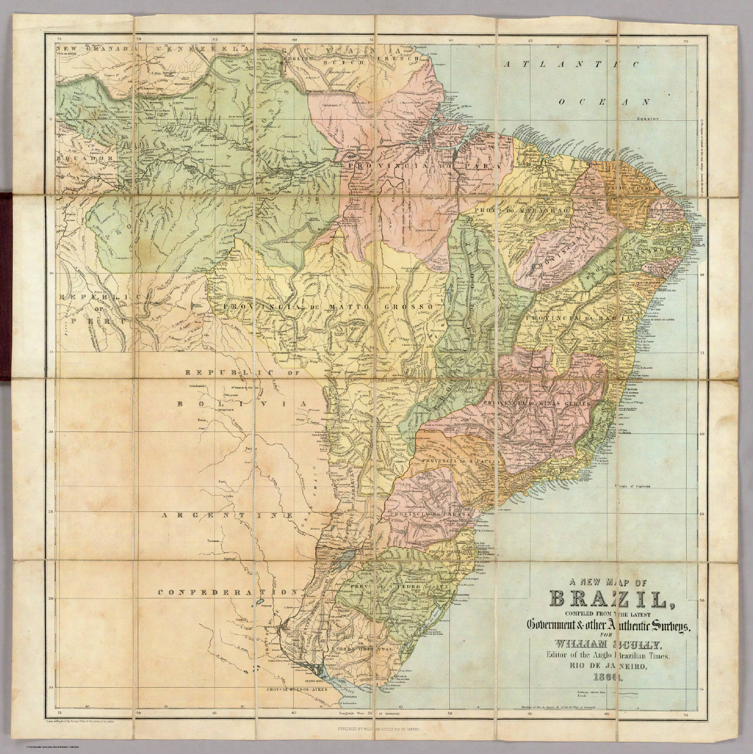 new map of Brazil Scully William 1866
