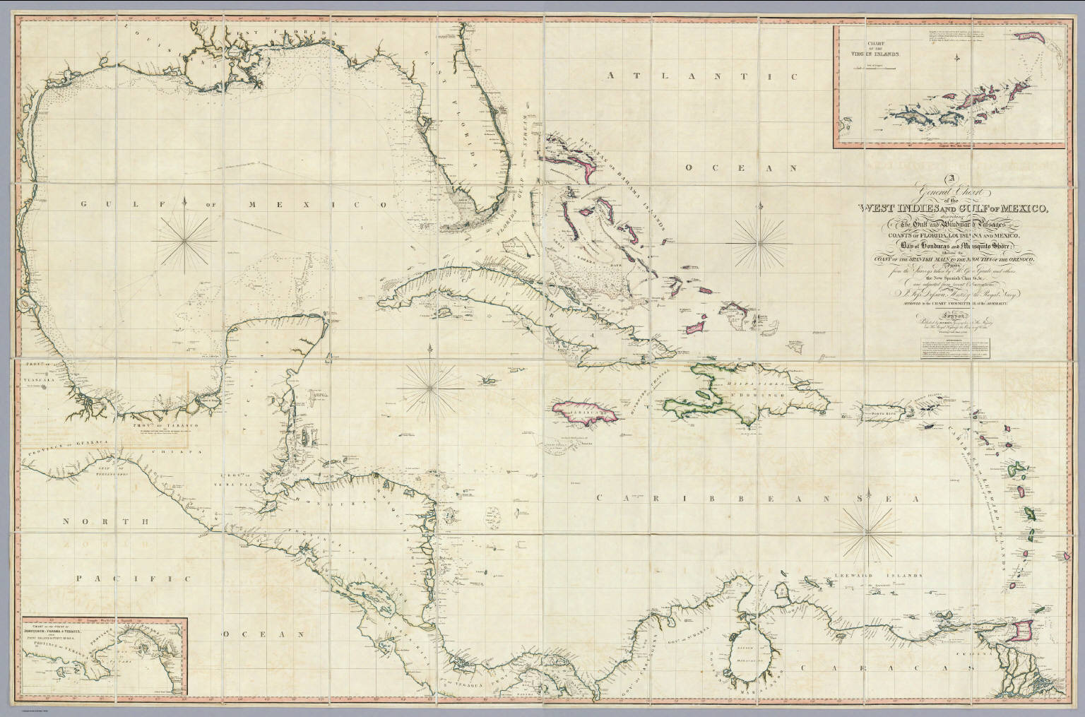 A General Chart of the West Indies And Gulf Of Mexico  David