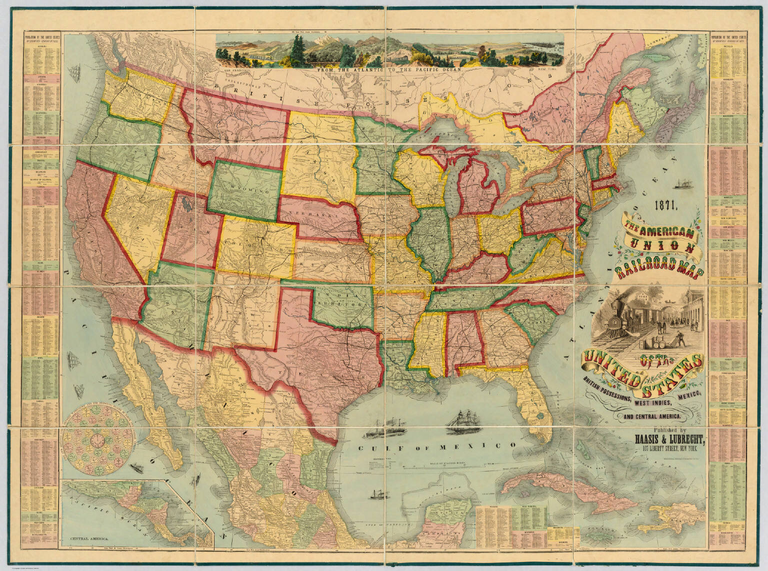 American Union Railroad Map Of The United States David Rumsey - Us transcontinental railroad map