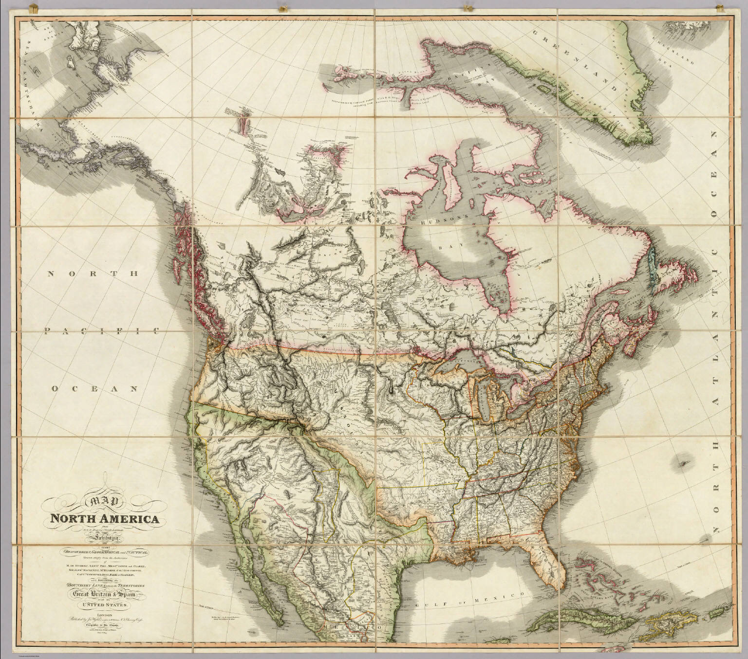 Map Of America In 1812.Map Of North America Wyld James 1812 1887 1823