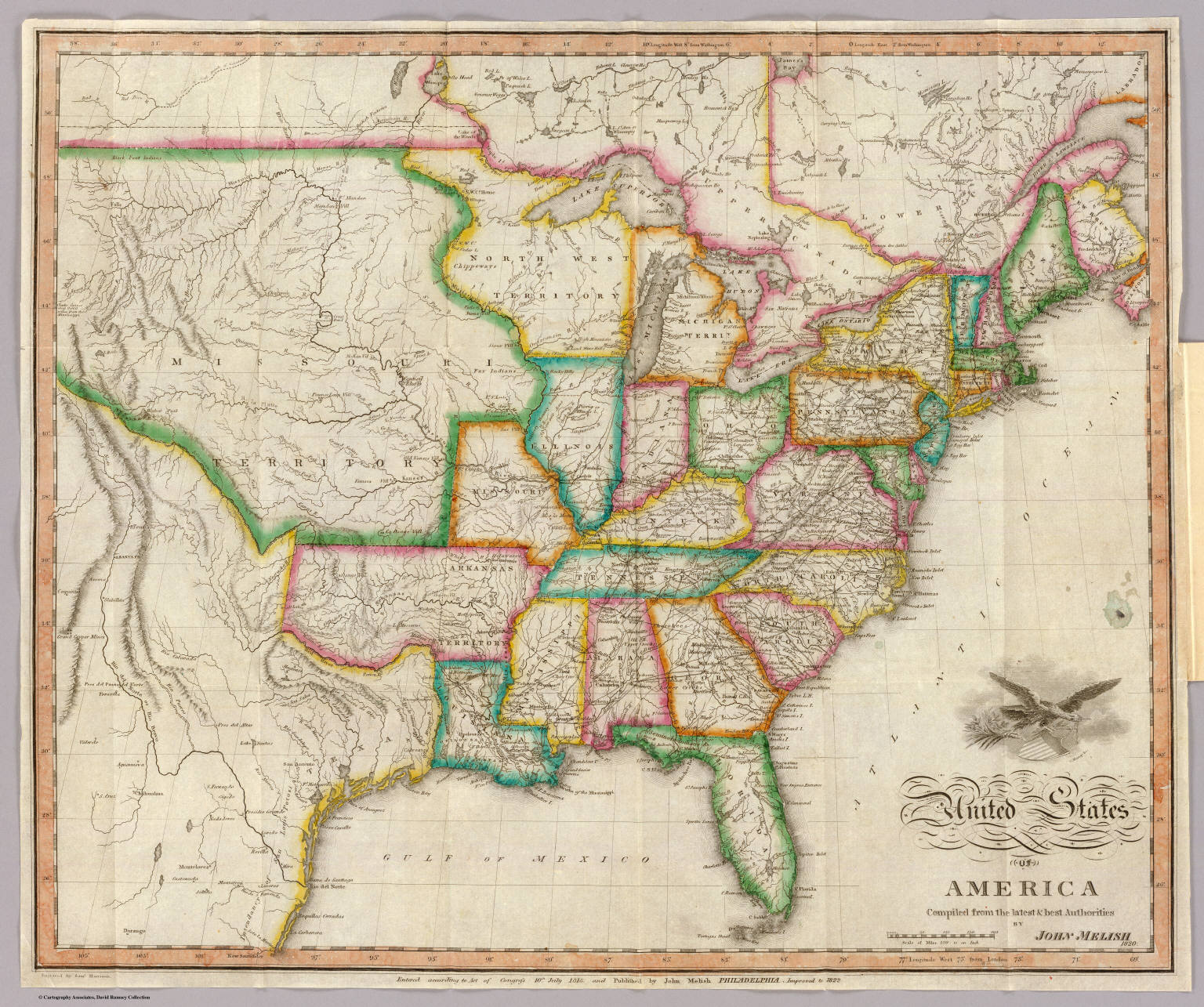 United States Of America David Rumsey Historical Map Collection - 1814 us map