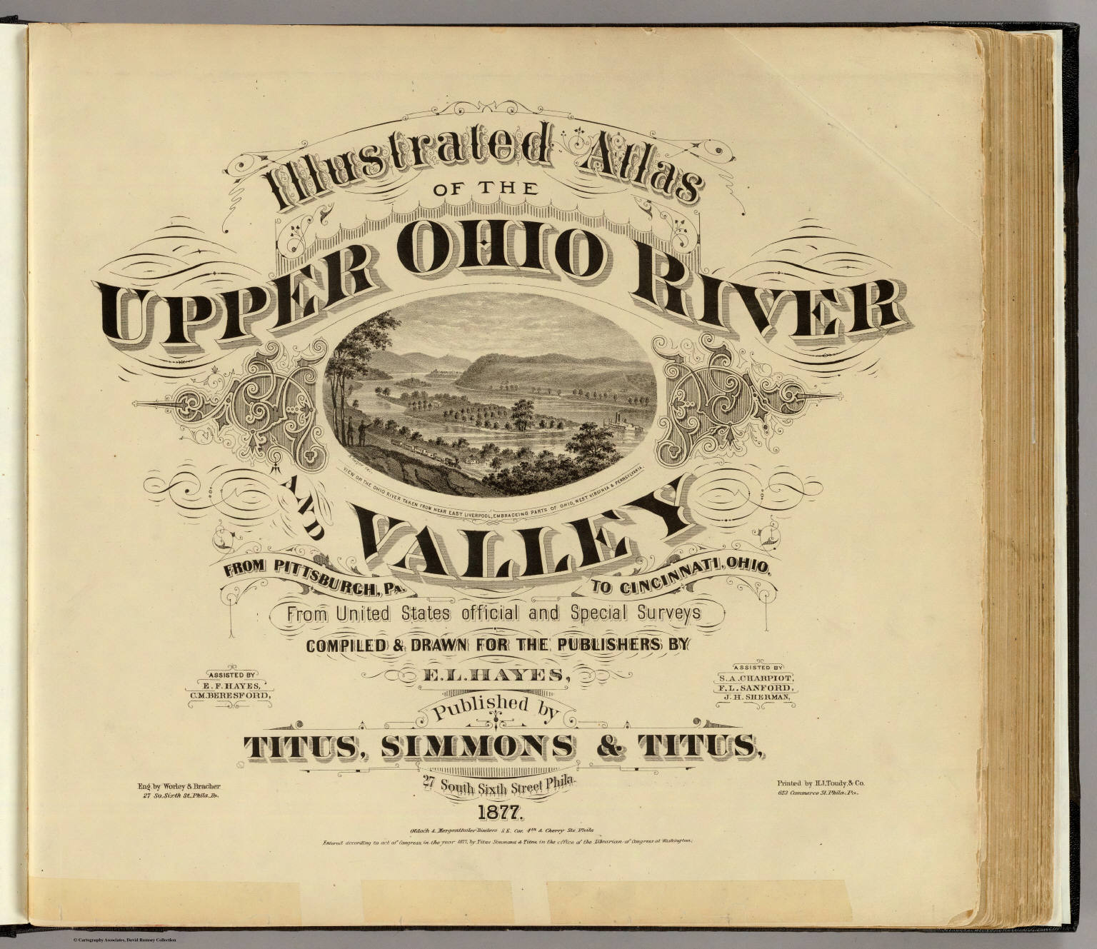Title Page Illustrated atlas of the Upper Ohio River and Valley