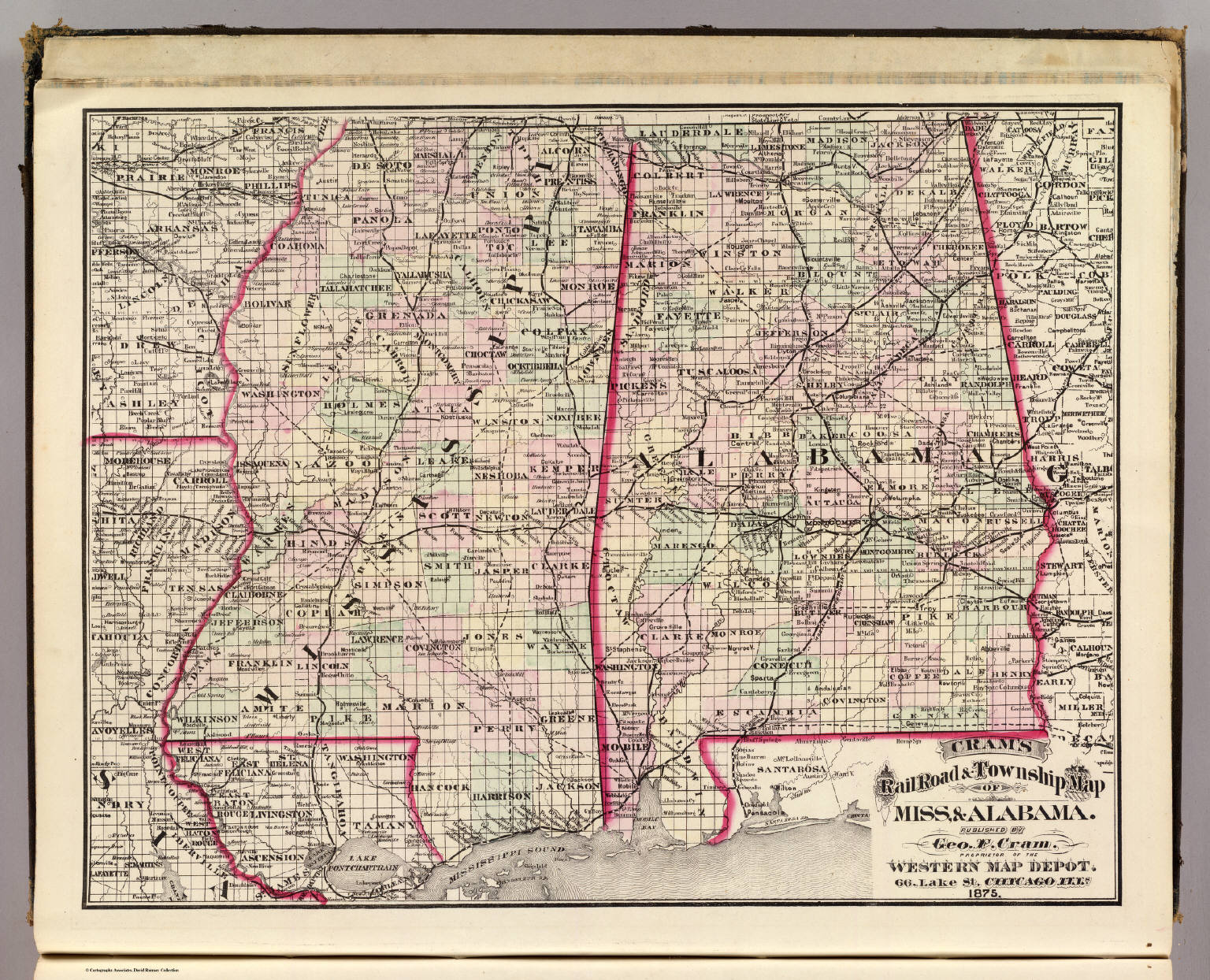 Alabama Cram Atlas Company - Road map of alabama