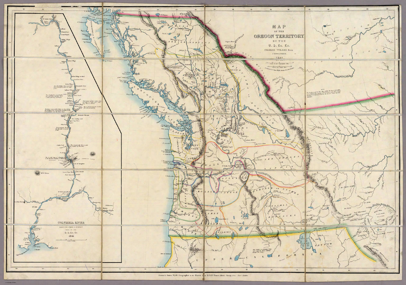 Map Of The Oregon Territory David Rumsey Historical Map Collection - Oregon map us