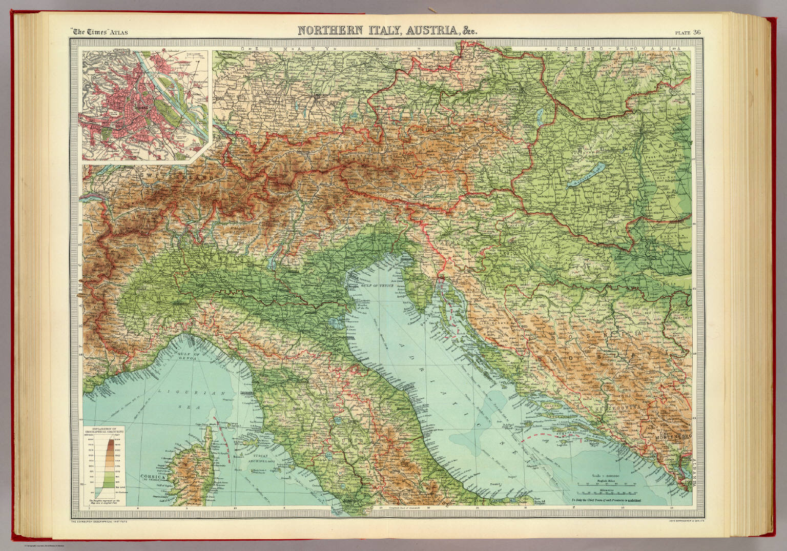 Northern Italy Austria C David Rumsey Historical Map Collection - Map of austria and italy