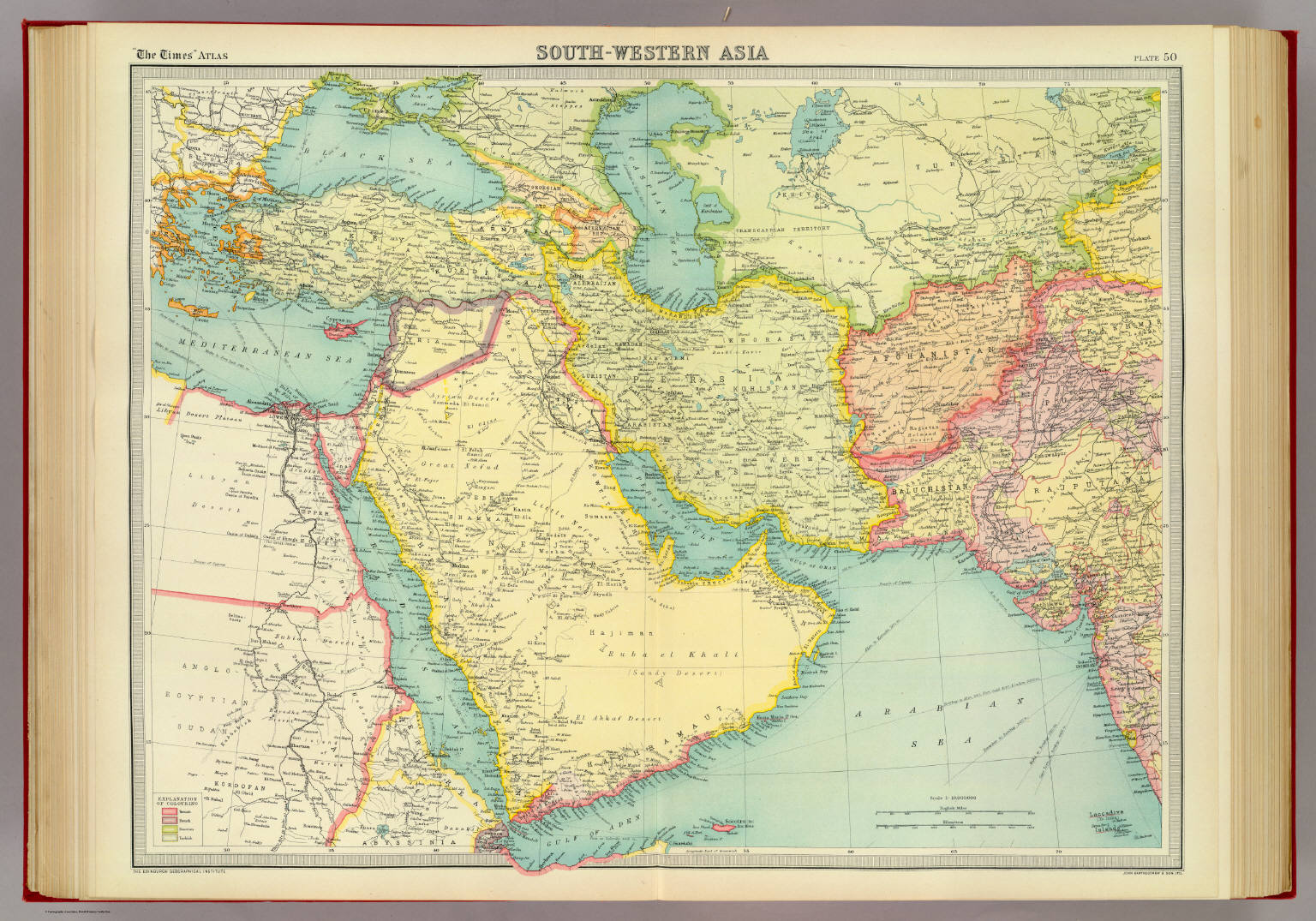 Southwestern Asia David Rumsey Historical Map Collection - Map of egypt 1920
