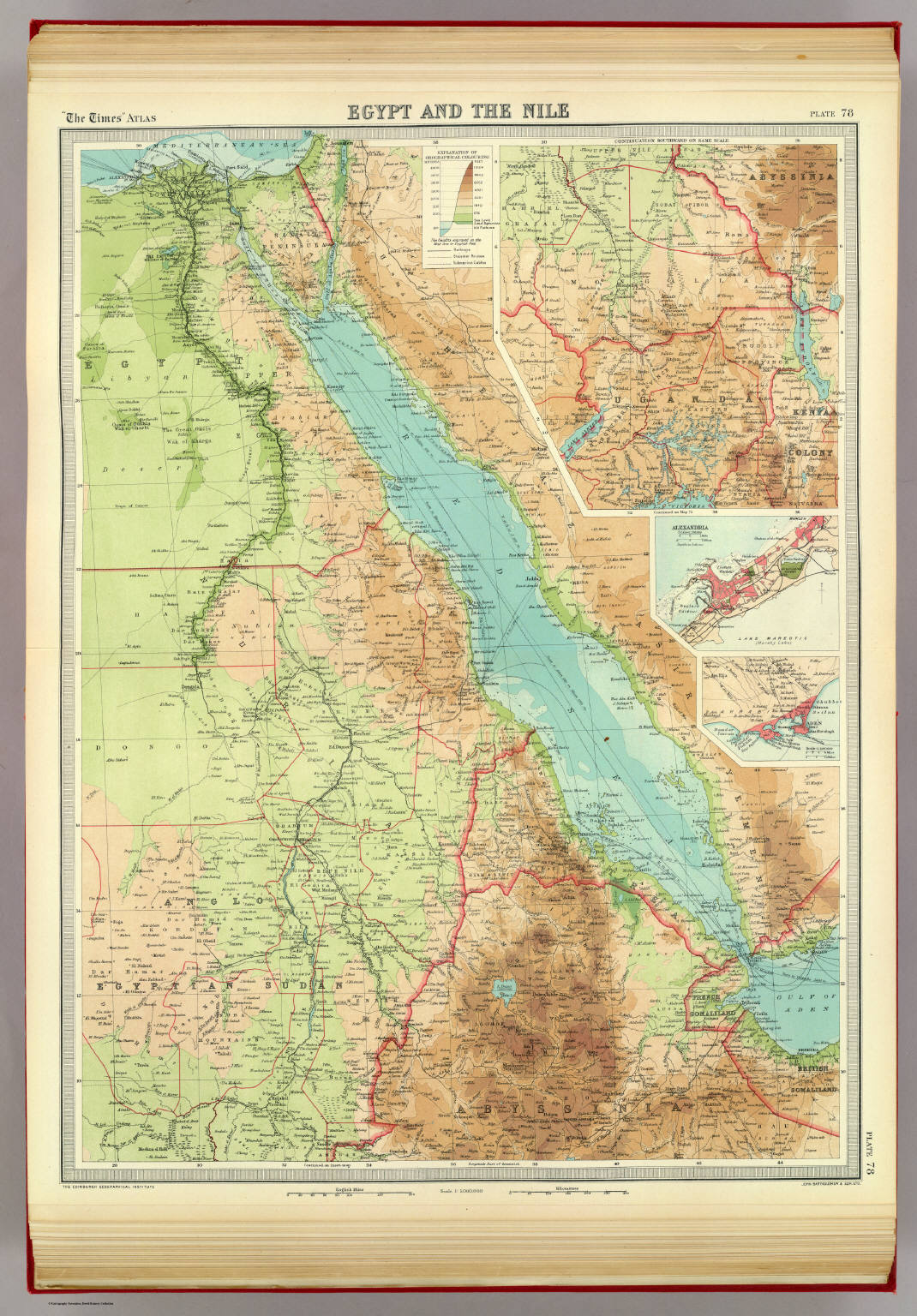Egypt And The Nile David Rumsey Historical Map Collection - Map of egypt 1920