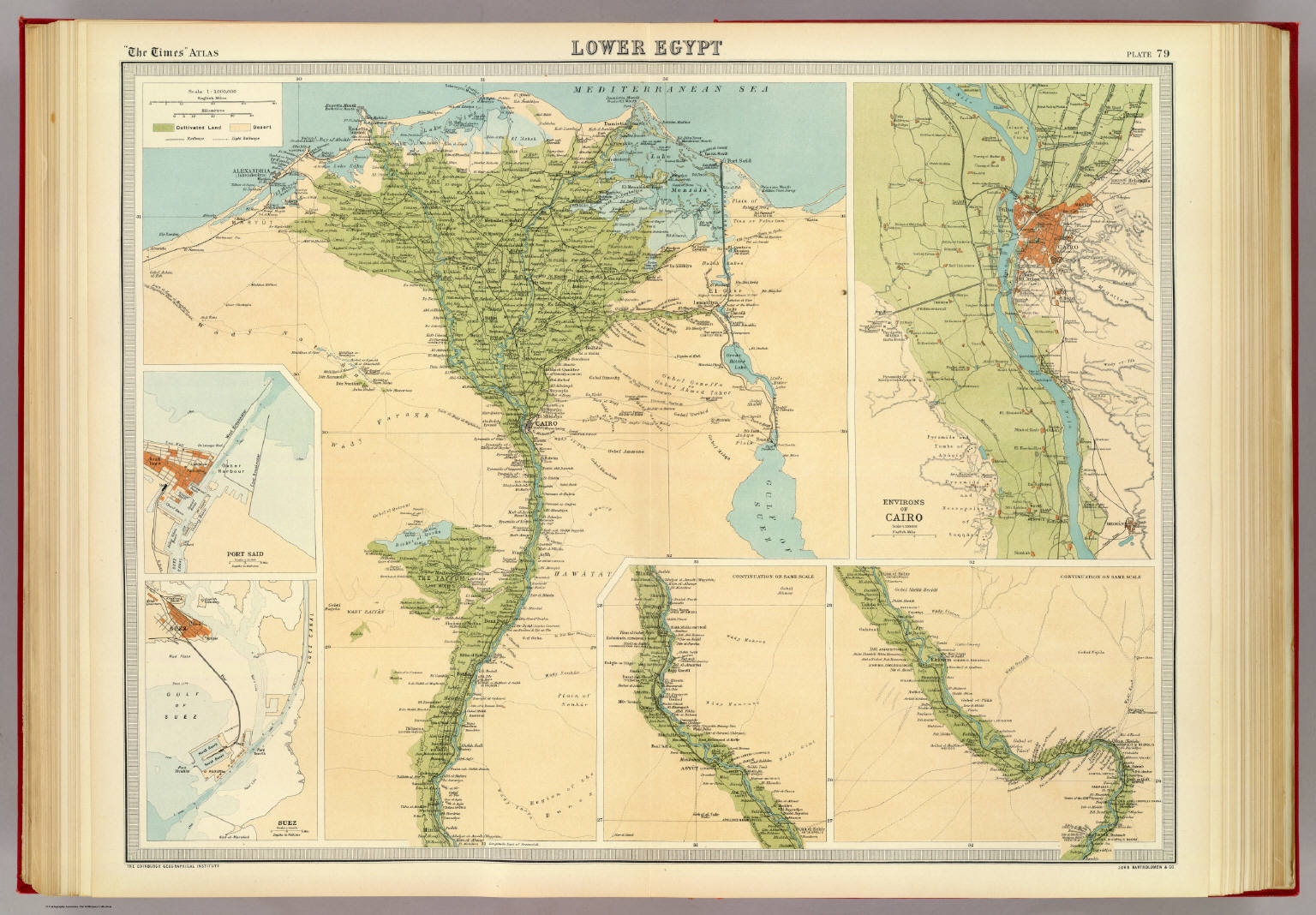 Lower Egypt David Rumsey Historical Map Collection - Map of egypt 1920