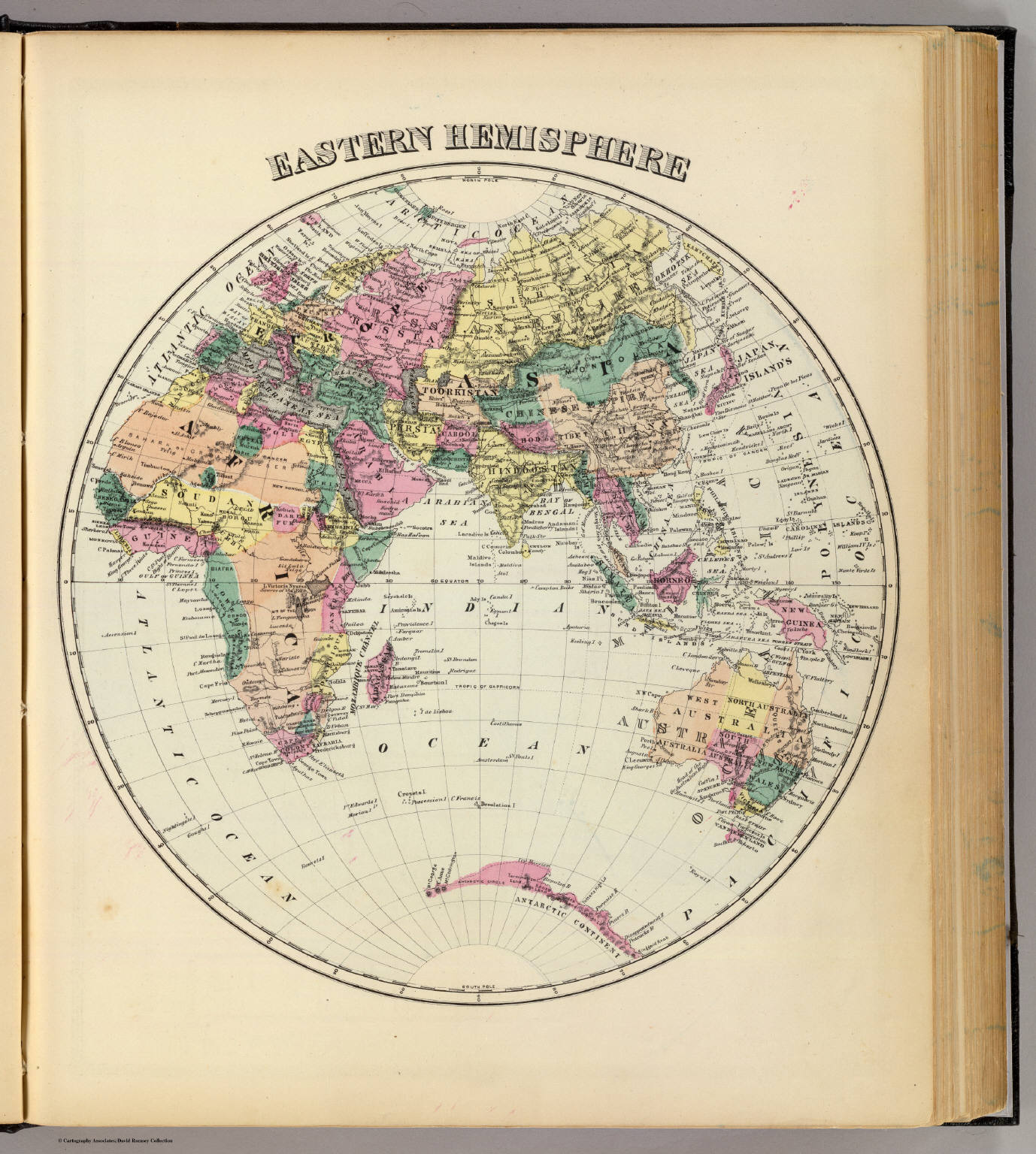 Eastern Hemisphere  David Rumsey Historical Map Collection