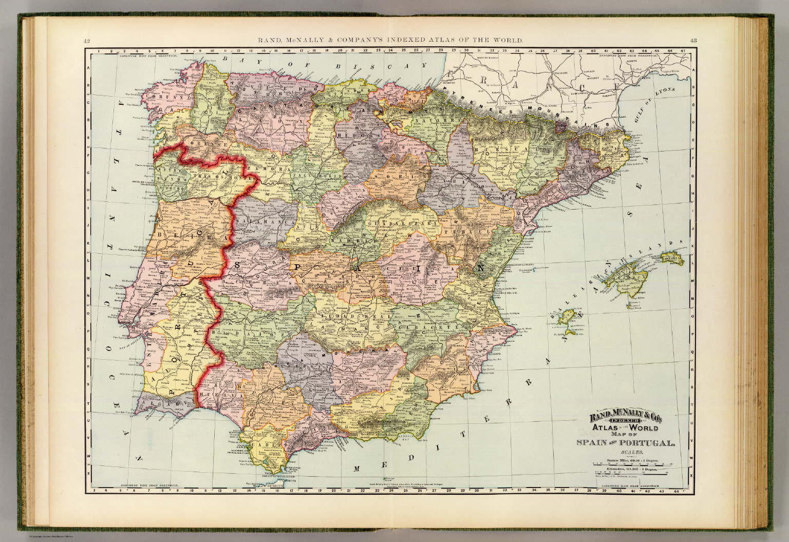 Spain Portugal David Rumsey Historical Map Collection - Spain historical map