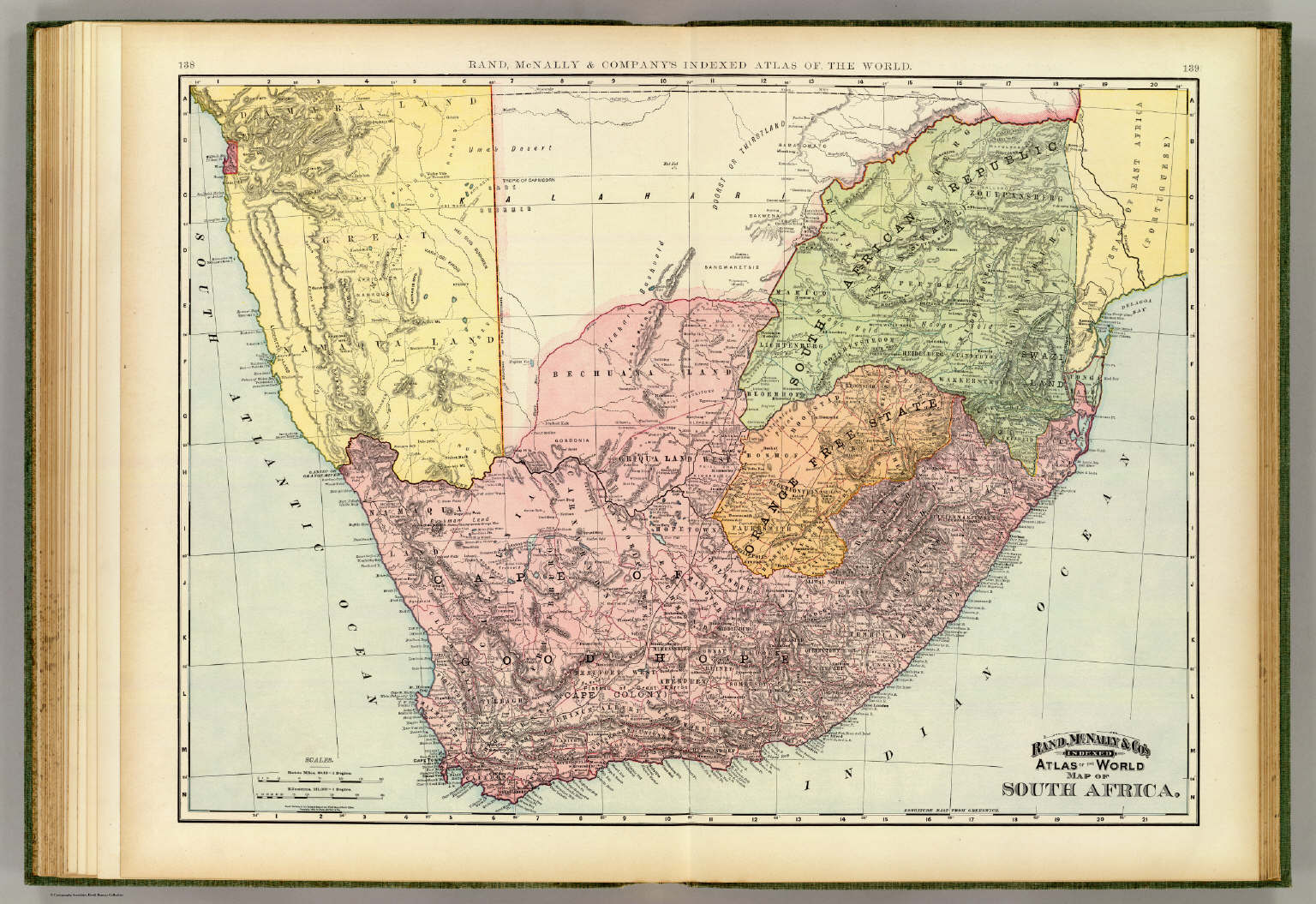 South africa david rumsey historical map collection south africa gumiabroncs Images