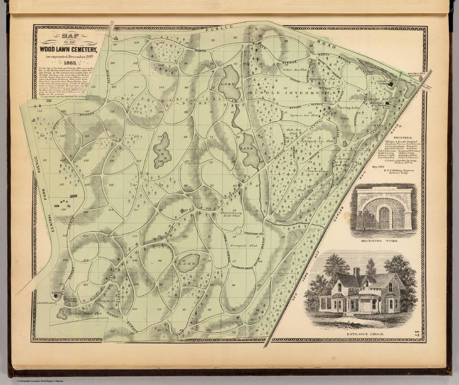 Woodlawn Cemetery  David Rumsey Historical Map Collection