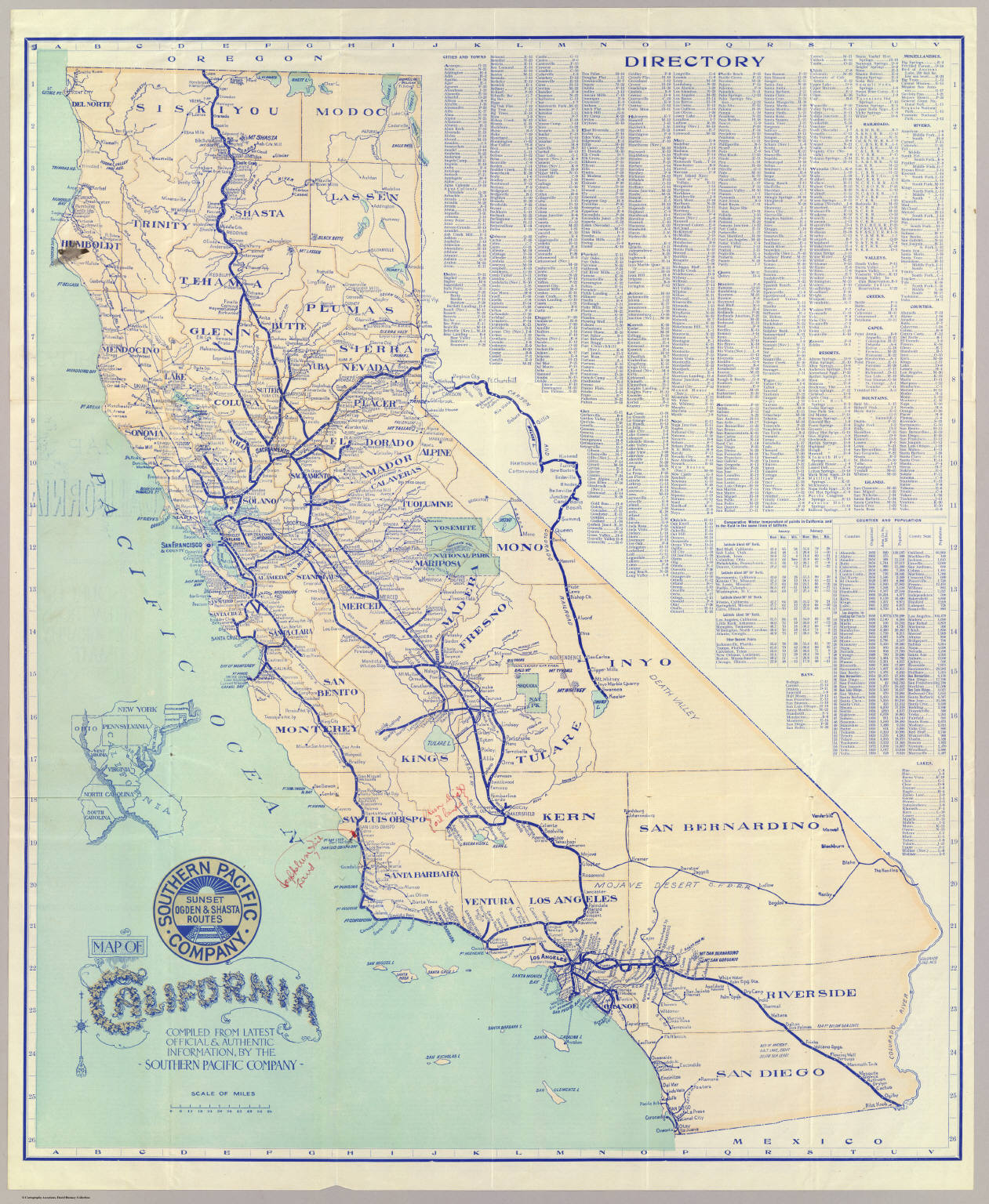 Map Of California David Rumsey Historical Map Collection - Map of southern california