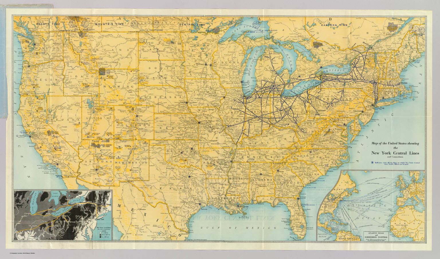 U.S. showing NY Central Lines. / New York Central Railroad Company ...