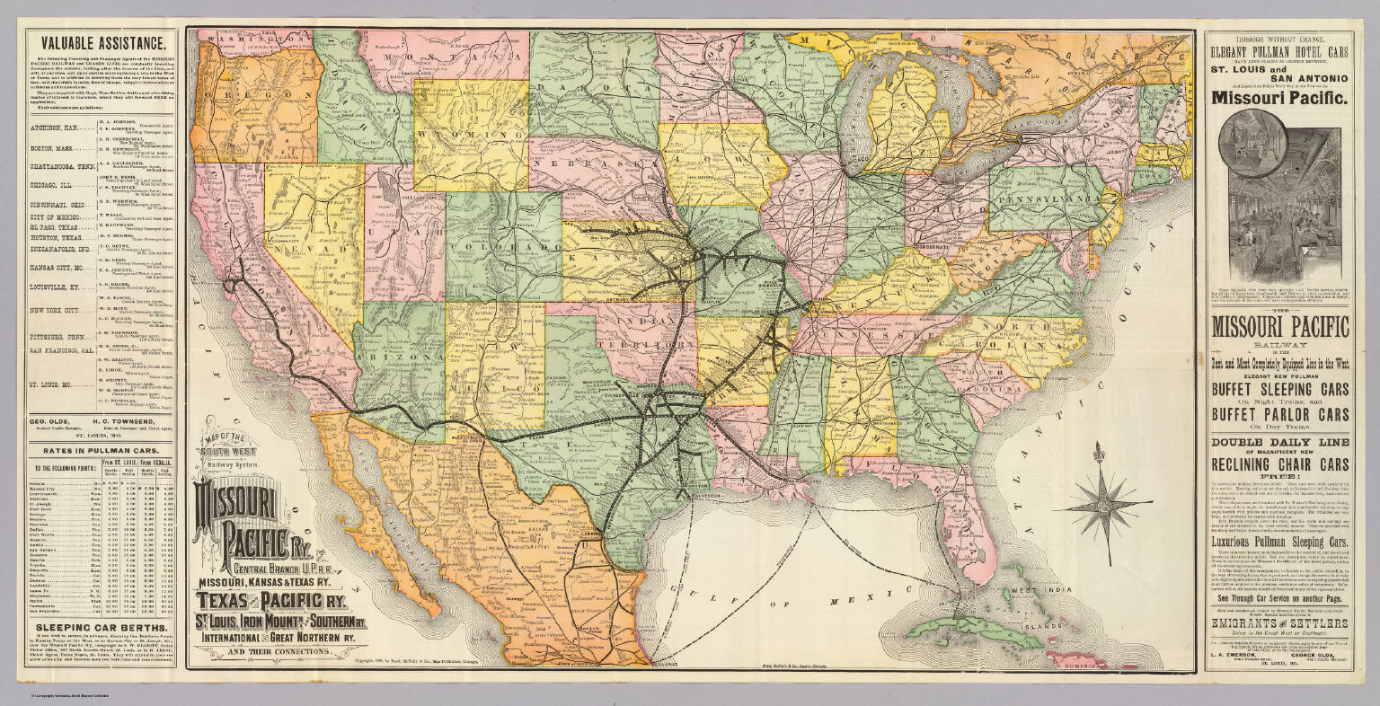 South West Railway System David Rumsey Historical Map Collection - Map of northern missouri